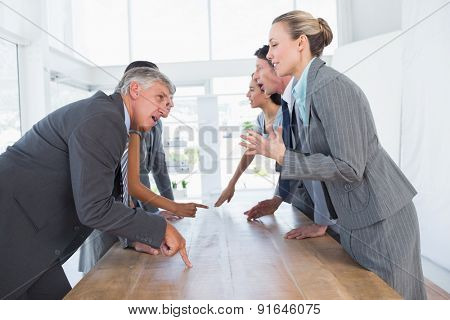 Business team discussing together in the office