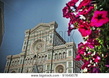 Santa Maria Del Fiore Cathedral In Florence