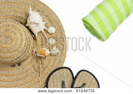 Equipment For Summer Relaxation Isolated