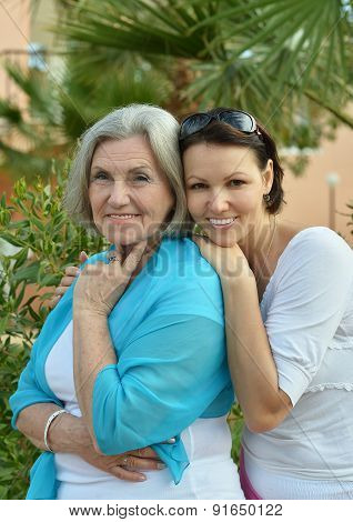 Mother and her nice daughter