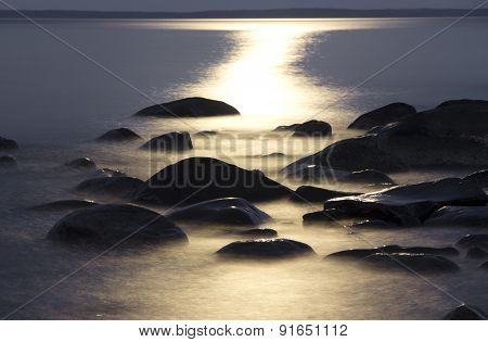 Moonlit night at Onega
