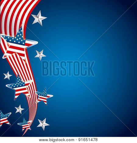 USA design over blue background vector illustration