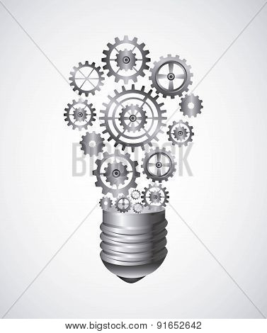Bulb design over white background vector illustration