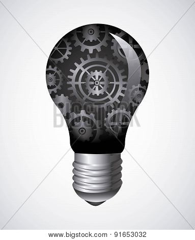 Bulb design over gray background vector illustration