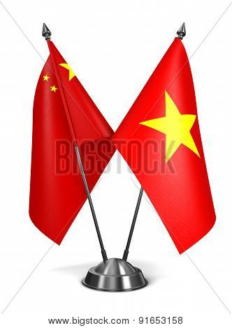China and Vietnam - Miniature Flags.