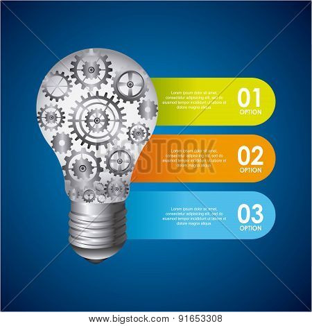Bulb design over blue background vector illustration