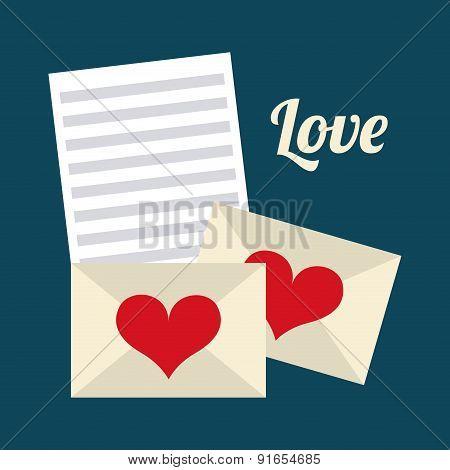 Love design over blue background vector illustration