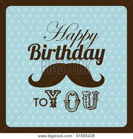 Birthday design over brown background vector illustration