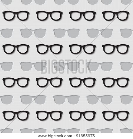 Hipster sunglasses seamless pattern