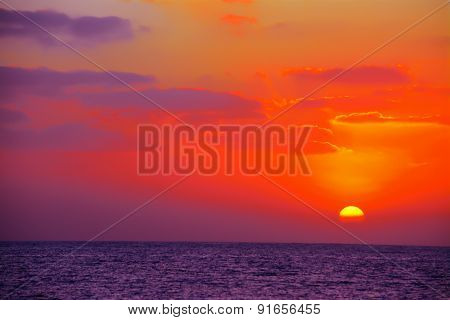 Colorful Sky Over The Sea At Sunset