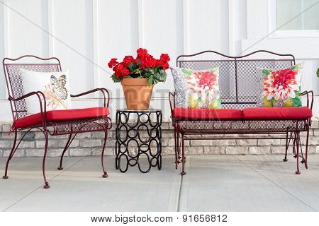 Colorful Wrought Iron Garden Furniture