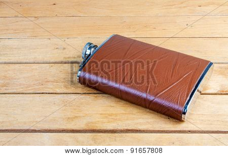 Brown Hip Flask