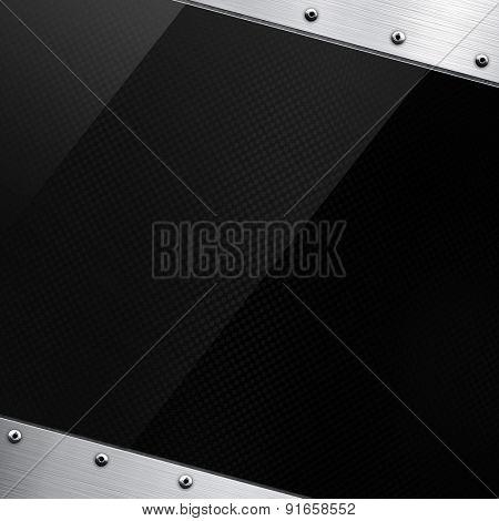 glass on metal plate