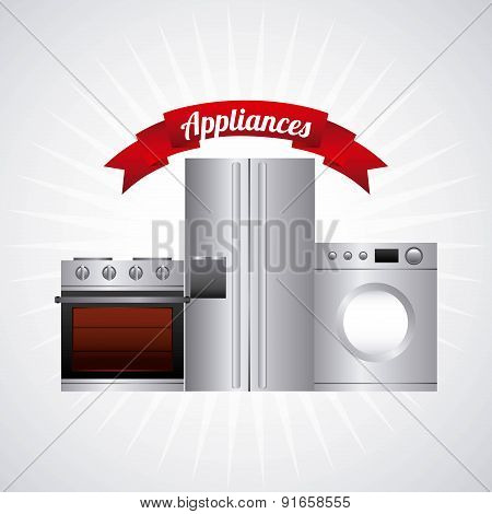 Appliances design over gray background vector illustration