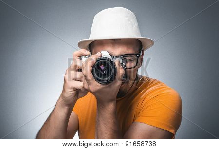 Man With Old Camera