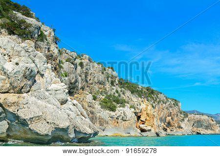 Rocky Shore In Orosei Gulf