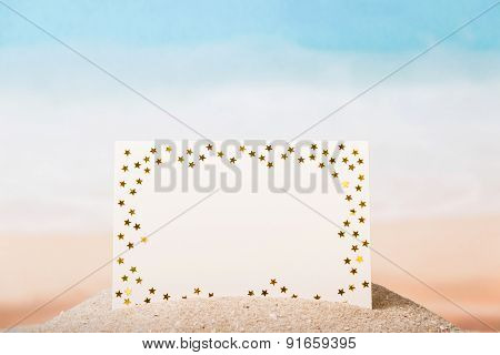 Blank card with stars