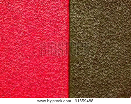 Retro Look Red Green Leatherette Background