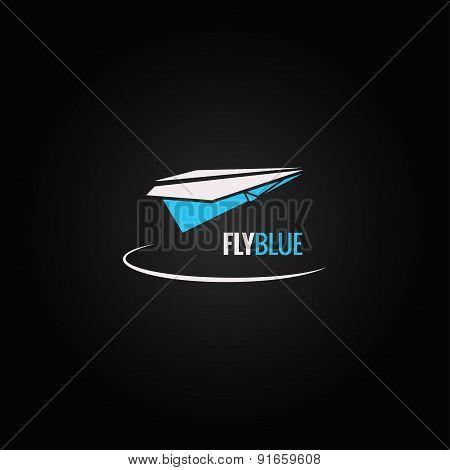 paper plane concept design background