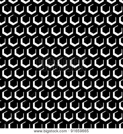 Seamless hexagons pattern. Geometric texture. Vector art.