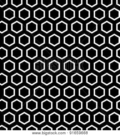 Seamless hexagons texture. Vector art.