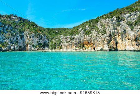 White Beach And Turquoise Water In Orosei Gulf