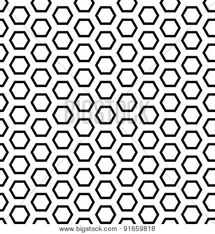 Seamless hexagons texture. Honeycomb pattern. Vector art.
