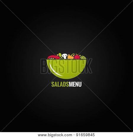 vegetables design salad background