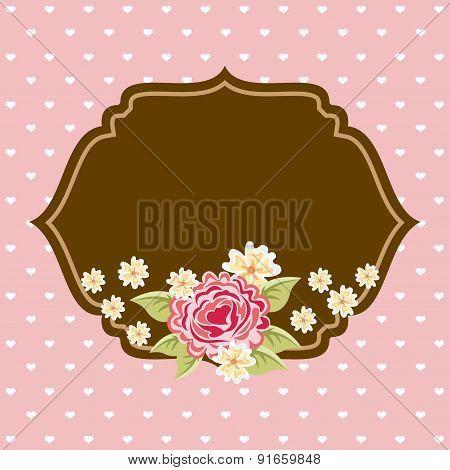 Patterns design over pink background vector illustration