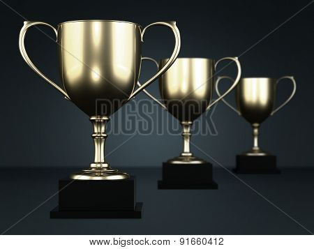 Golden Cup Trophies