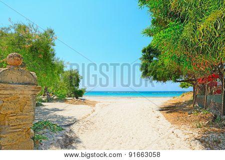 Alghero Lido Entrance On A Clear Summer Day