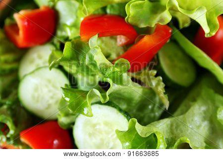 Fresh vegetable salad close up