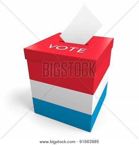 Luxembourg election ballot box for collecting votes