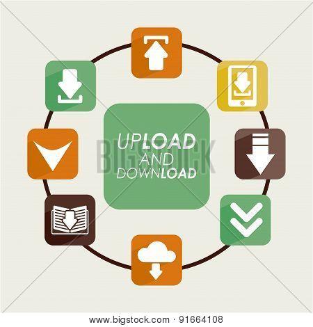 Download design over beige background vector illustration
