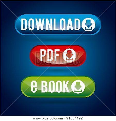 Download design over blue  background vector illustration