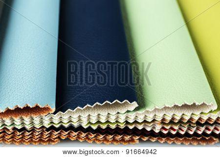 Scraps of colored tissue close up