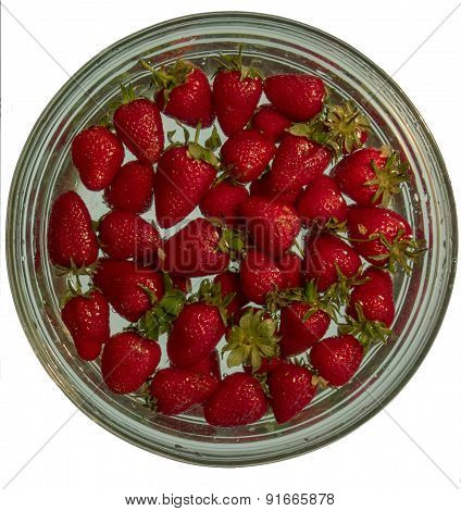 Real Strawberries In Water