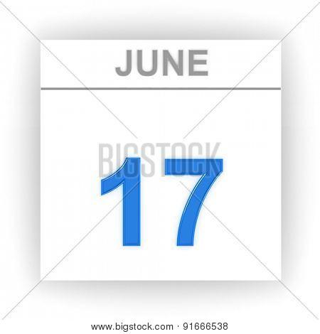 June 17. Day on the calendar. 3d