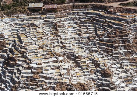 Salt Field In Maras Near Cuzco