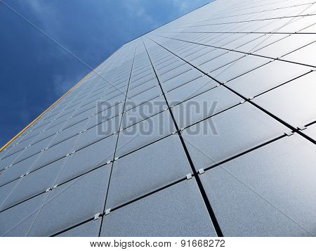 Abstract facade of modern high commercial building
