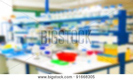 Biological laboratory. blurred background