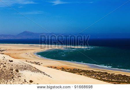Canarian sand beach