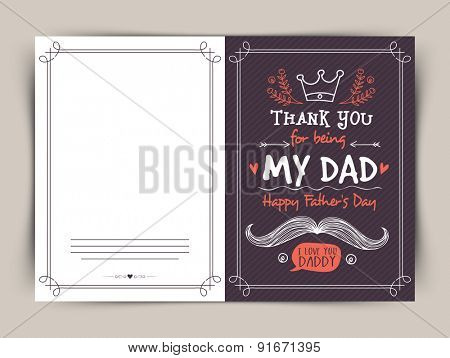 Beautiful greeting card design for the celebrations of Happy Father's Day.