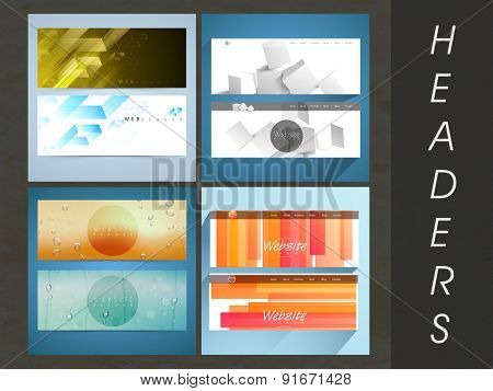 Creative Website header or banner collection for your business.