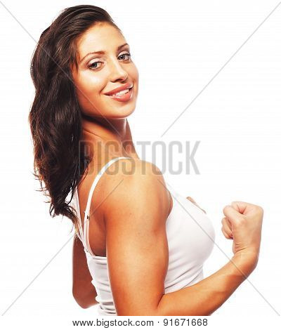 Young beautiful fitness woman