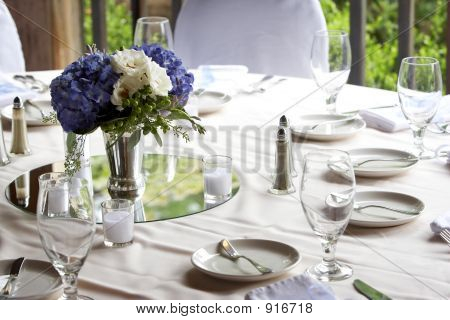 A Table Set For Fine Dining