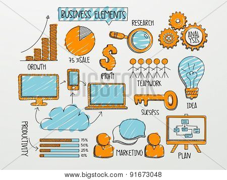 Various business infographic elements for your professional reports and financial data presentation.