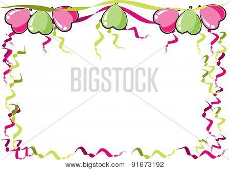 vector drawing party balloons border