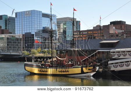 The Boston Tea Party Museum in Boston, Massachusetts