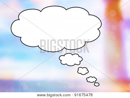 Big bubble in blank with a colorful background